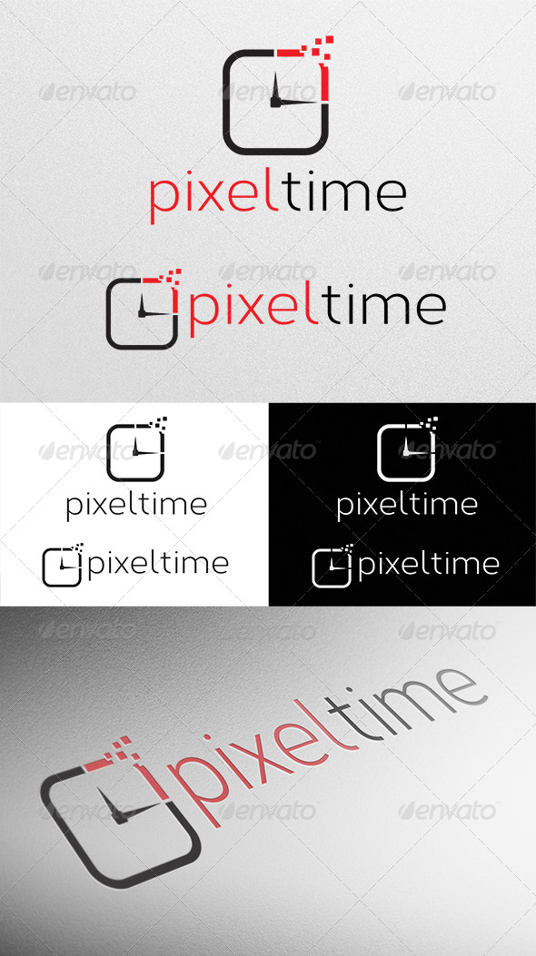 GraphicRiver Pixel Time Logo 4320186