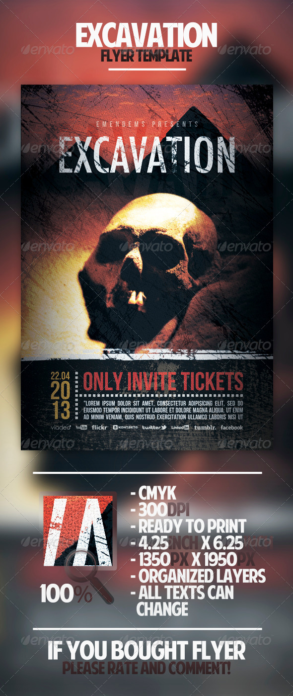 GraphicRiver Excavation Flyer Template 4402005