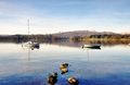 Two boats on Windermere with mountain backdrop - PhotoDune Item for Sale