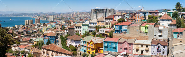 Panoramic view on Valparaiso - Stock Photo - Images