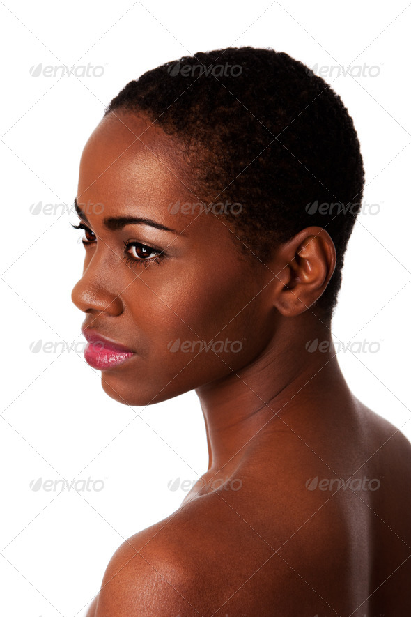 Stock Photo - PhotoDune Beautiful face of African woman with good skin 475199