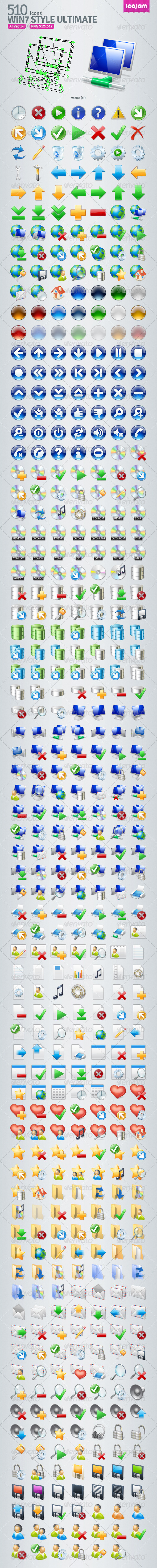 510 AI Win7 style icons - Icons