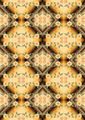 Mosaic Gradient with Pattern of Yellow Flowers. - PhotoDune Item for Sale