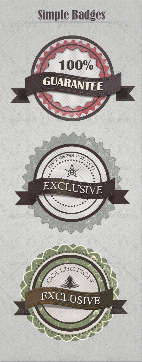 GraphicRiver Vintage Badges 4317602