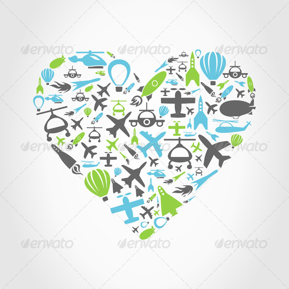 GraphicRiver Aircraft Heart 4404511
