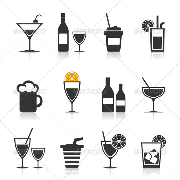 GraphicRiver Alcohol Icon Set 4404521