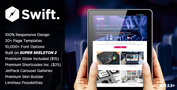 Swift: A Wide Screen Responsive Theme
