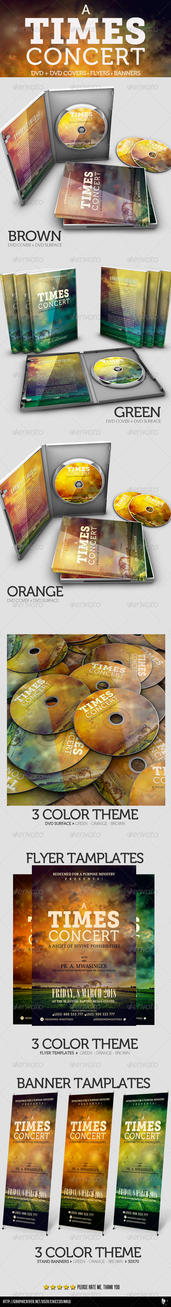 GraphicRiver A Times Concert Collection DVD Flyer Banner 4405036
