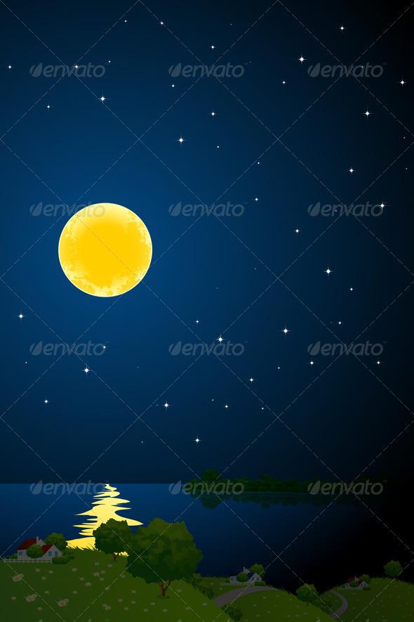 GraphicRiver Night Landscape 4405135