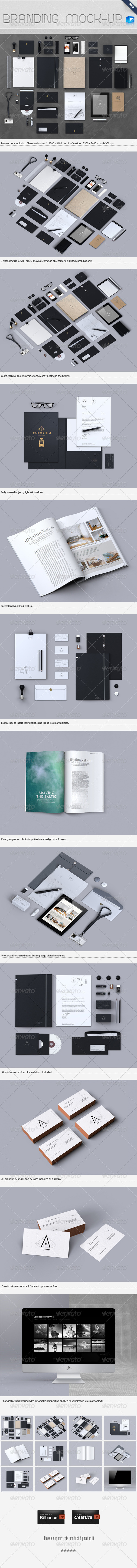 GraphicRiver Stationery Branding Mock-Up 4367980