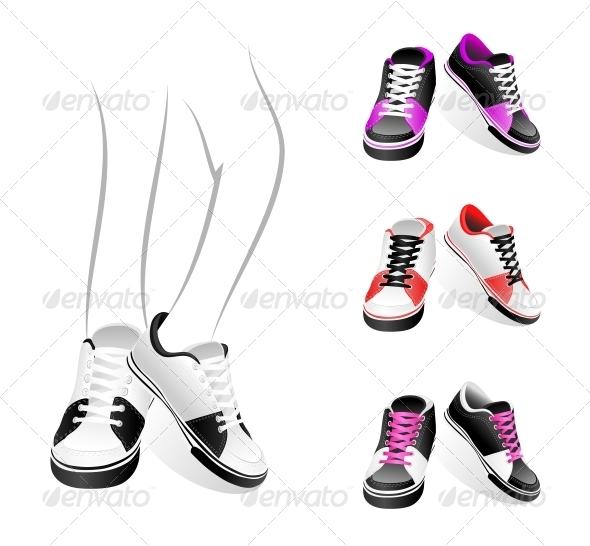 GraphicRiver Set of Sneakers 4405582