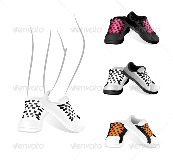 GraphicRiver Set of Gym Shoes 4405584