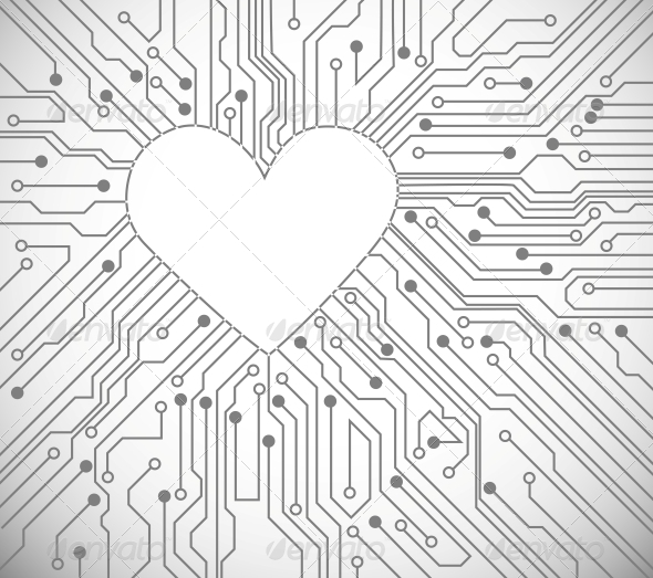 GraphicRiver Heart from Circuit 4405586