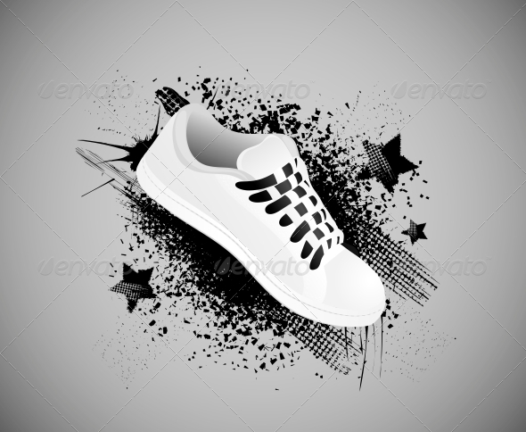 GraphicRiver Background with Gym Shoes 4405598