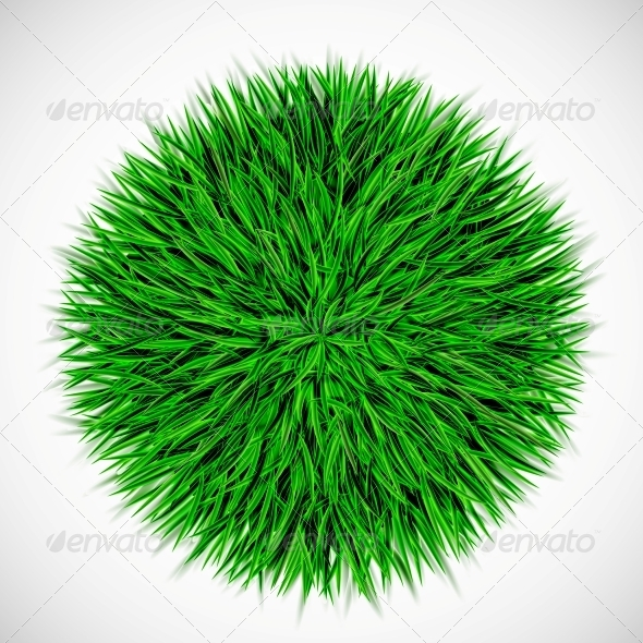 GraphicRiver Background with Circle of Grass 4405604