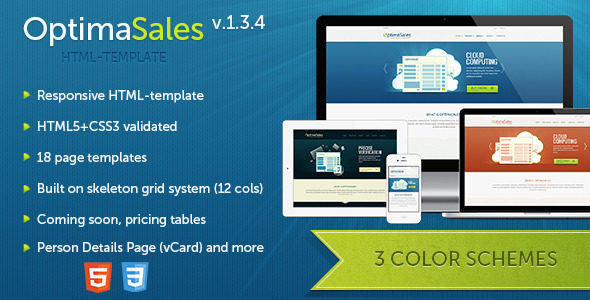 OptimaSales - Responsive HTML5/CSS3 Template - Technology Site Templates