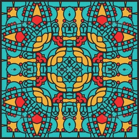 GraphicRiver Vector Square Decorative Design Element 4405635