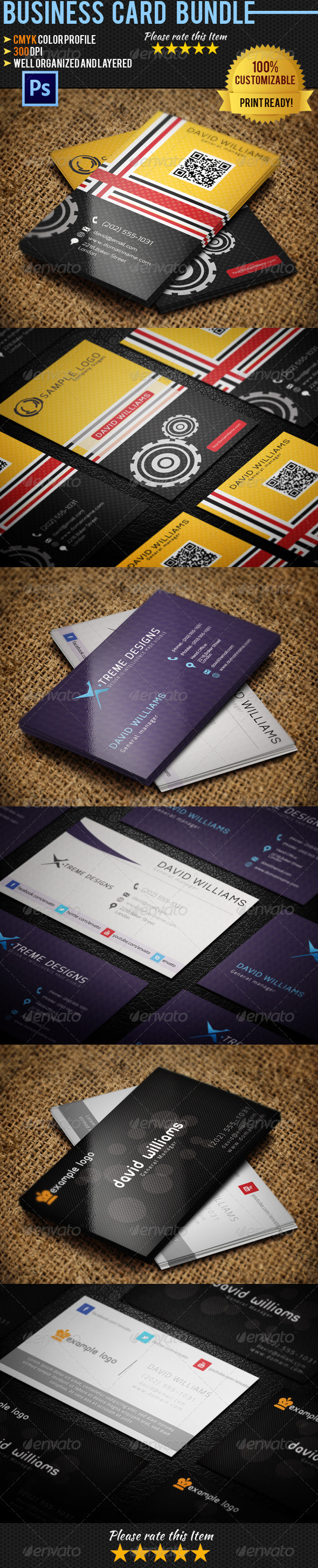 GraphicRiver Personal Business Card Bundle 02 4405647