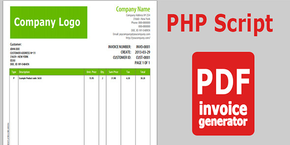 CodeCanyon PDF Invoice Generator v 1.0 4405933