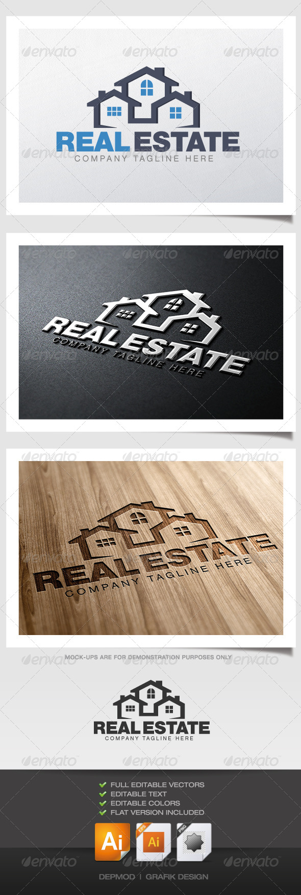 GraphicRiver Real Estate Logo 4405934