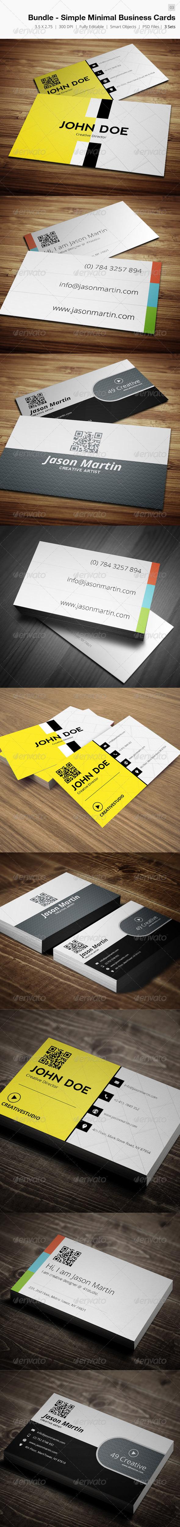 GraphicRiver Bundle Simple Minimal Business Card 03 4406398