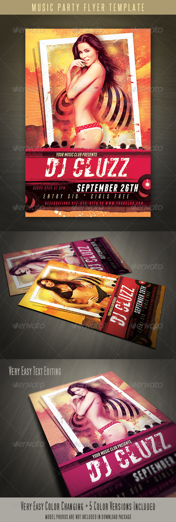 GraphicRiver Music Party Flyer 4406491