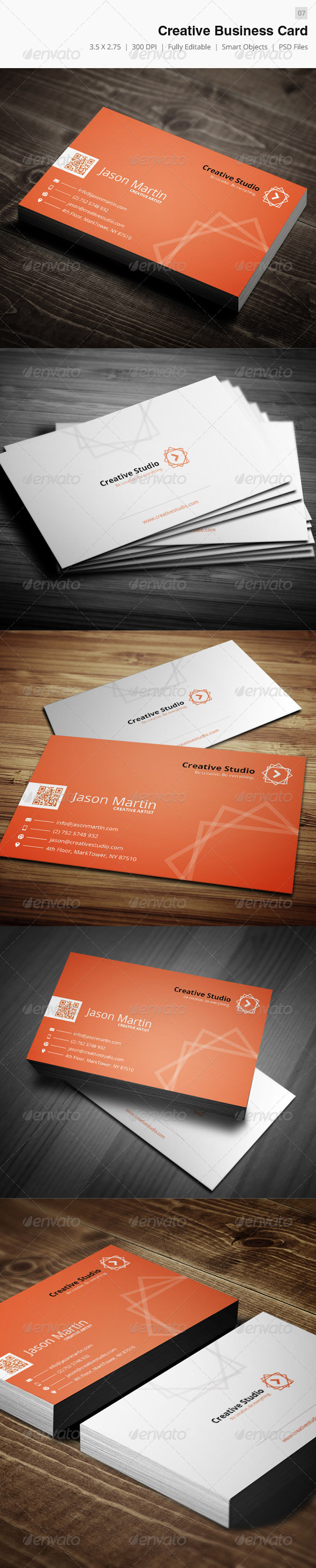 GraphicRiver Creative Corporate Business Card 07 4289413