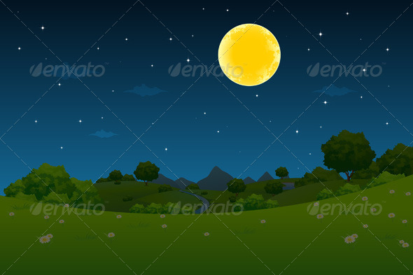 GraphicRiver Night Landscape 4406867