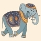 Illustration of Elephant Indian Style - GraphicRiver Item for Sale