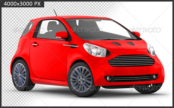 GraphicRiver 3D Render of Compact Car 4369947
