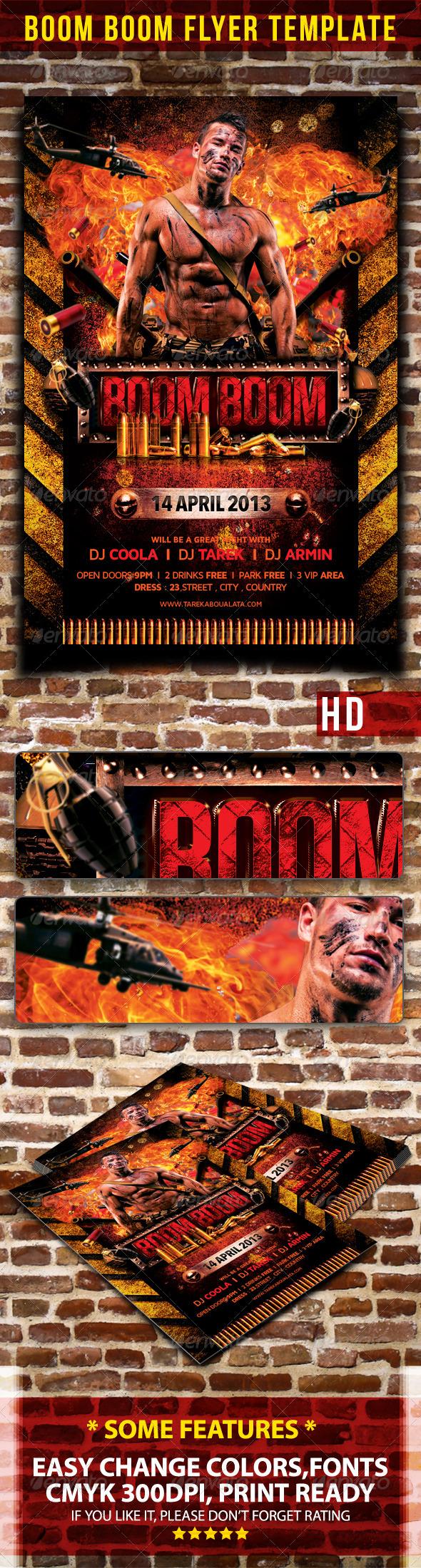 GraphicRiver Boom Boom Flyer Template 4289950