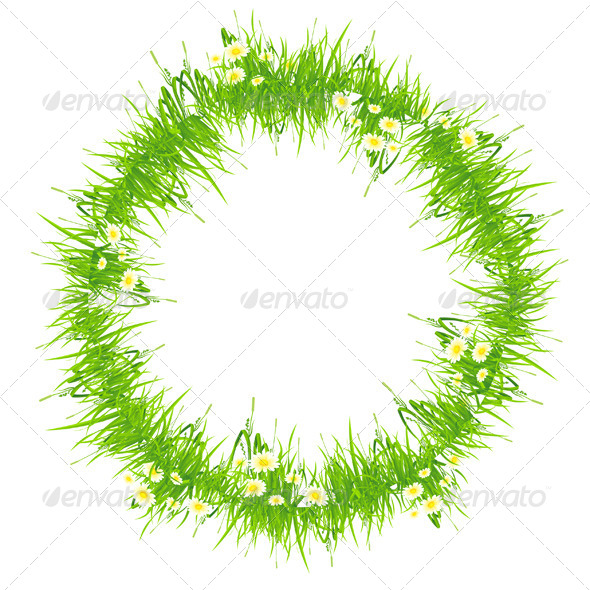 GraphicRiver Isolated Grass Frame 4407767