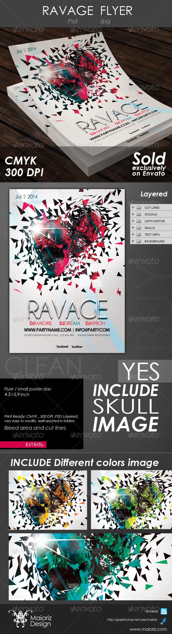 GraphicRiver Ravage Flyer 4294797