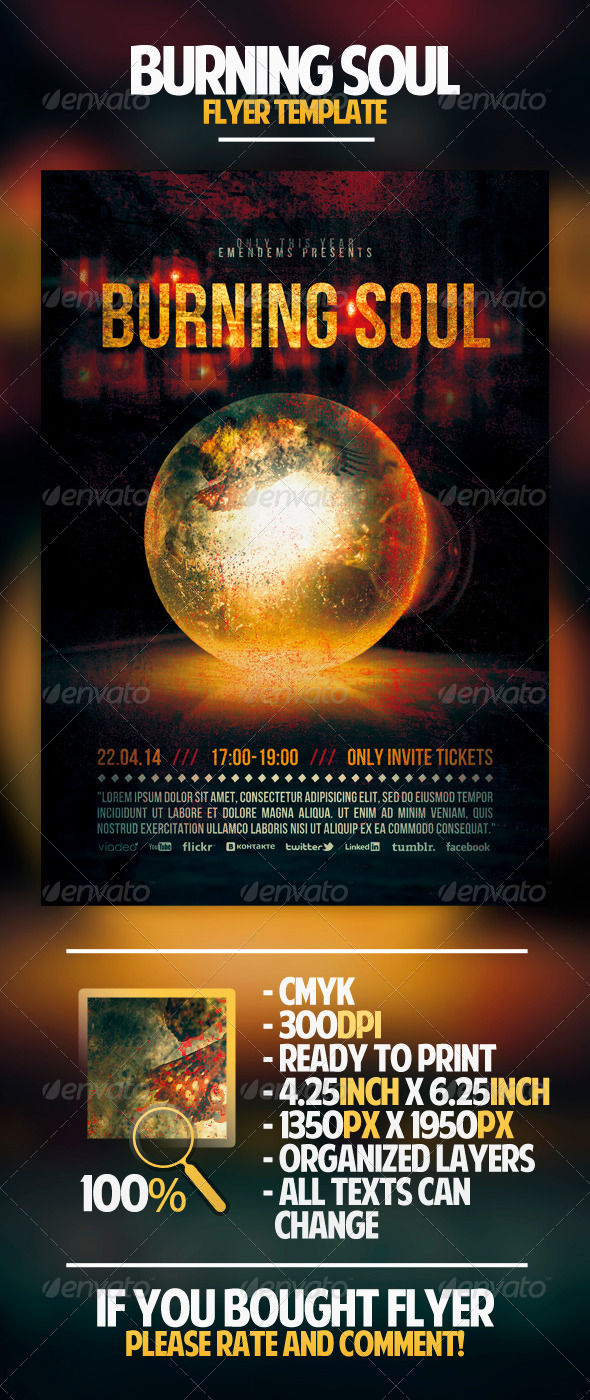 GraphicRiver Burning Soul Flyer Template 4407984