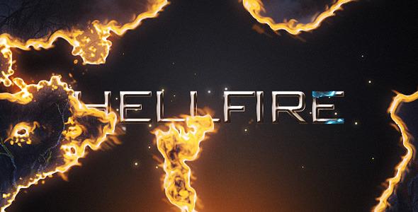 AE模板 蓝色火焰燃烧企业公司LOGO开场动画展示效果设计模版 Hellfire免费下载
