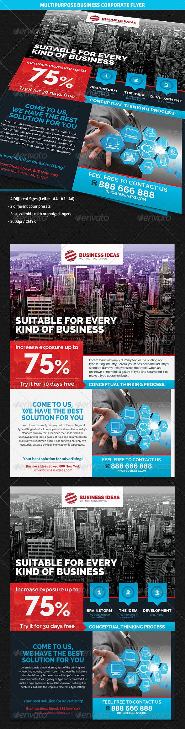 GraphicRiver Multipurpose Corporate Business Flyer 4408395