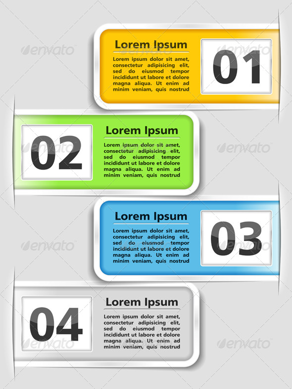 GraphicRiver Design Template with Four Elements 4408761