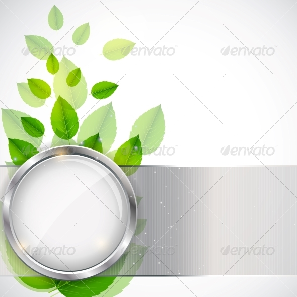 GraphicRiver Abstract Nature Background with Leaves 4408831
