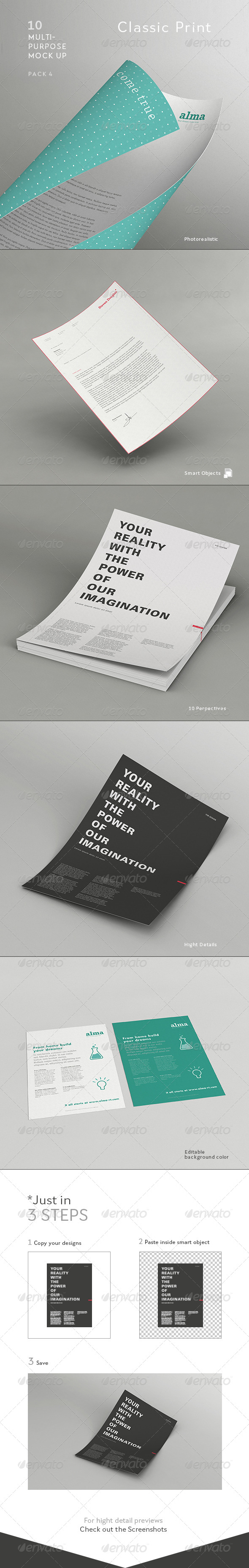 GraphicRiver Multipurpose Mock Up 4- Classic Print 4408877