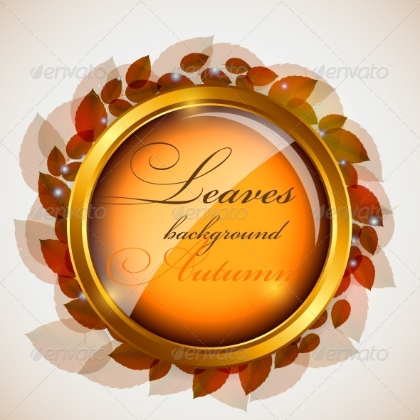 GraphicRiver Abstract Nature Background with Leaves 4408916