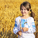 small rural girl on wheat field - PhotoDune Item for Sale