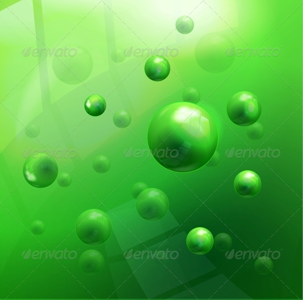 GraphicRiver Vector Molecules Background 4408963