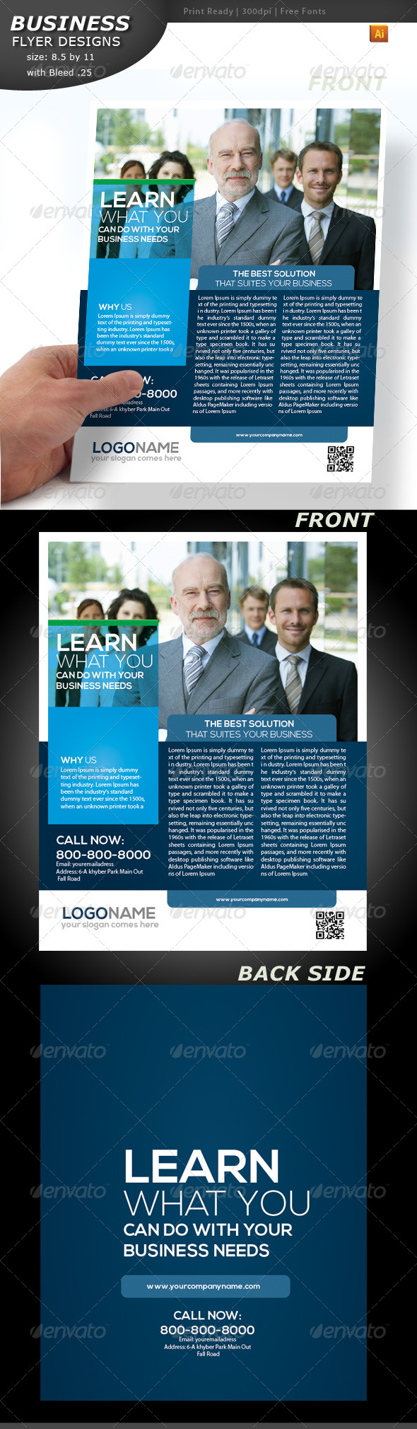 GraphicRiver Business Flyer Double Sided 4409197