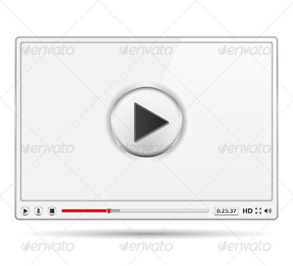 White Video Player