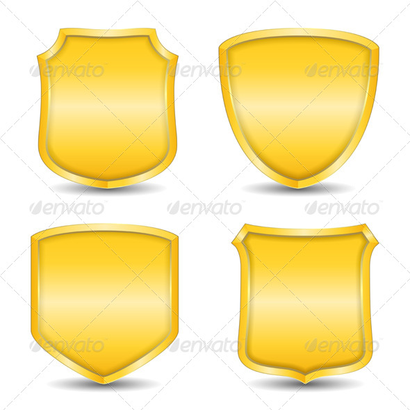 GraphicRiver Golden Shields 4409240