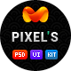 Pixels - clean design for blog & portfolio - ThemeForest Item for Sale