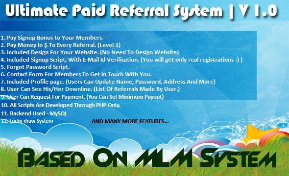 Ultimate Paid Referral System - CodeCanyon Item for Sale