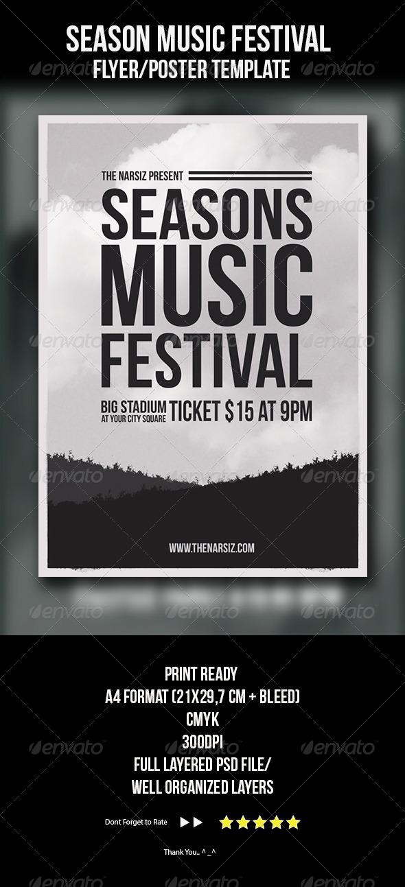 GraphicRiver Season Music Festival Flyer Template 4409553