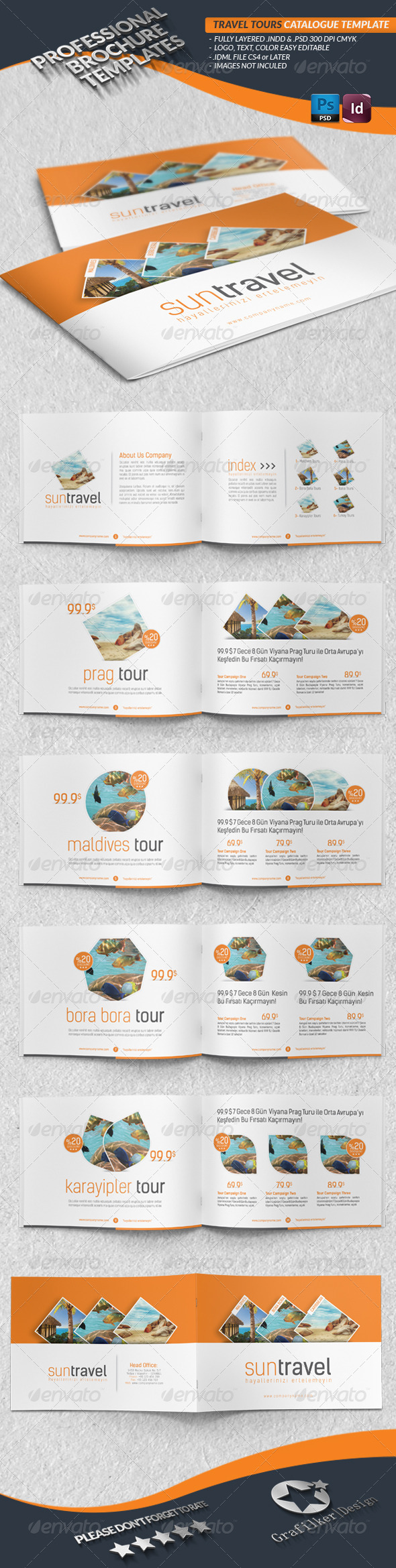GraphicRiver Travel Tours Catalogue Template 4409566