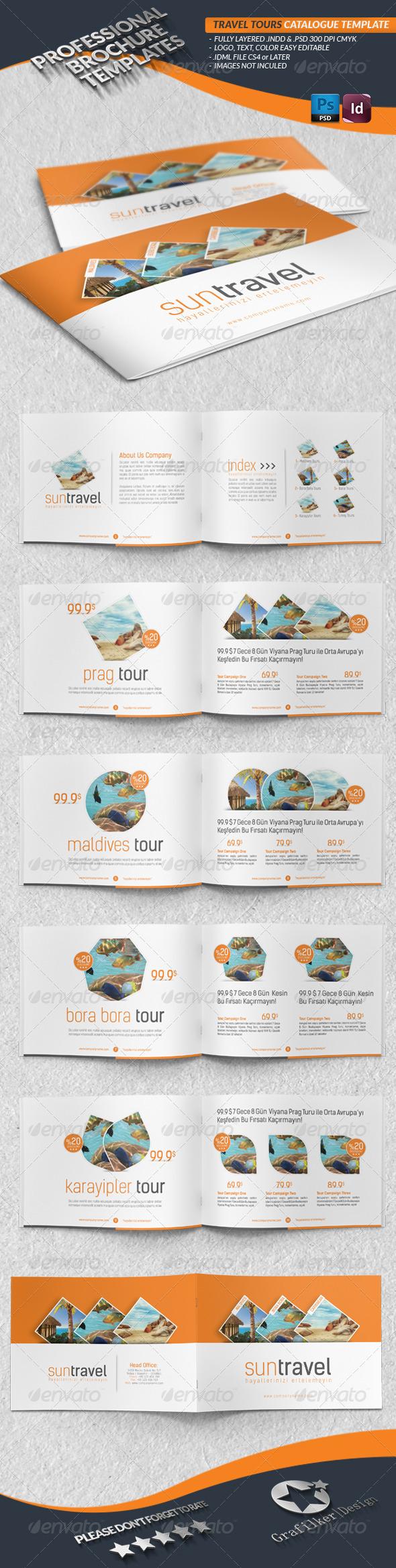 Travel Tours Catalogue Template